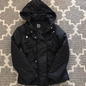 Black dollhouse puffer jacket